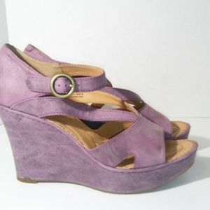 Crown by Born Purple Wedges Size 9
